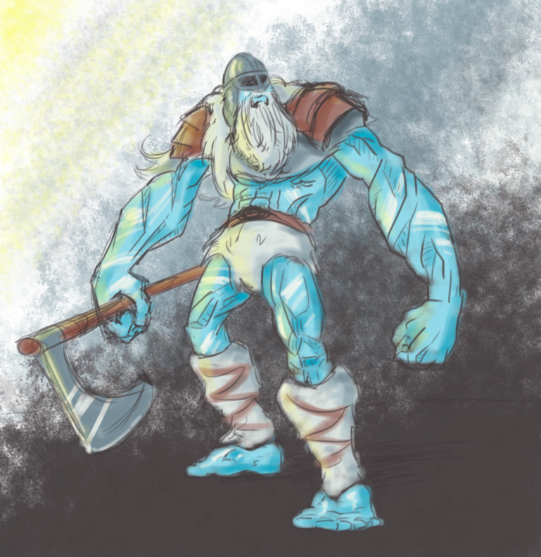 Concept of frost giant